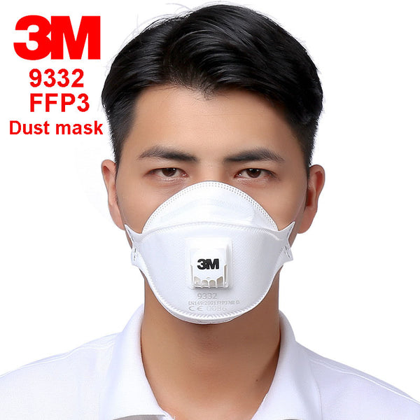 3M 9332 FFP3 respirator dust mask Folding Cold flow valve respirator mask For particles dust flu virus N99 filter mask