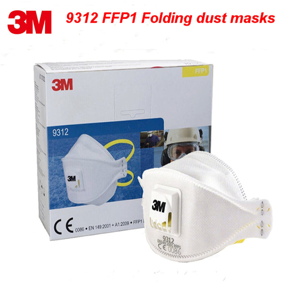 3M 9312  FFP1 NR D particle respirator mask high quality Folding dust mask PM2.5 formaldehyde dust Anti-virus filter mask