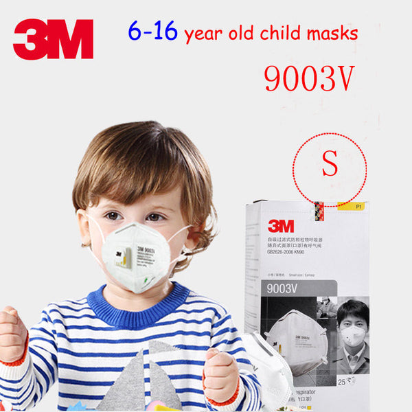 3M 9003V Children's section respirator mask With a breathing valve S code dust mask against dust particulates Children's masks