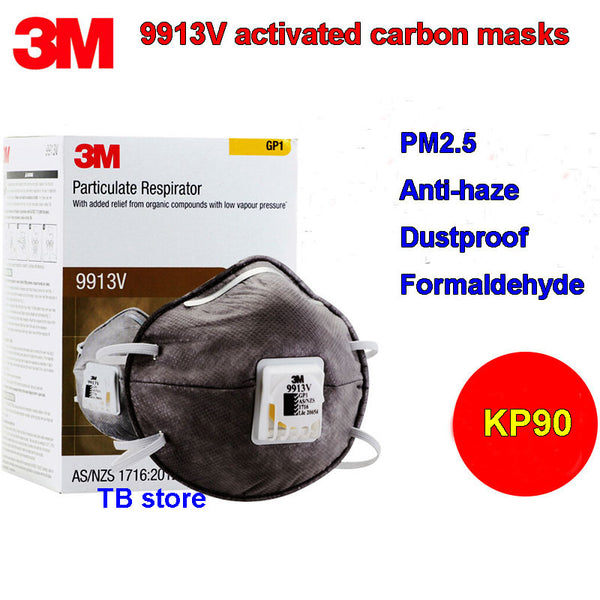 3M 9913V KP90 respirator mask Activated carbon With breathing valve protective mask Formaldehyde PM2.5 dust filter mask