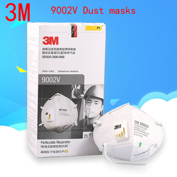 3M 9002V respirator dust mask With a breathing valve respirator mask against Dust particles Metal dust pollen filter mask