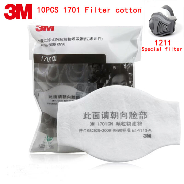 3M 1701 dust mask filter Genuine security 3M 1211/HF-52 Dust mask Filter element 10PCS against dust particulates filter