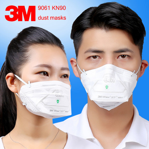 3M 9061 KN90 respirator dust mask 25PCS/package Folding filter mask against dust PM2.5 particulates respirator face mask