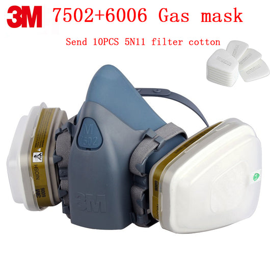 3M 7502+6006 respirator gas mask Genuine security 3M protective mask  against Multiple types Toxic gas chemical gas mask