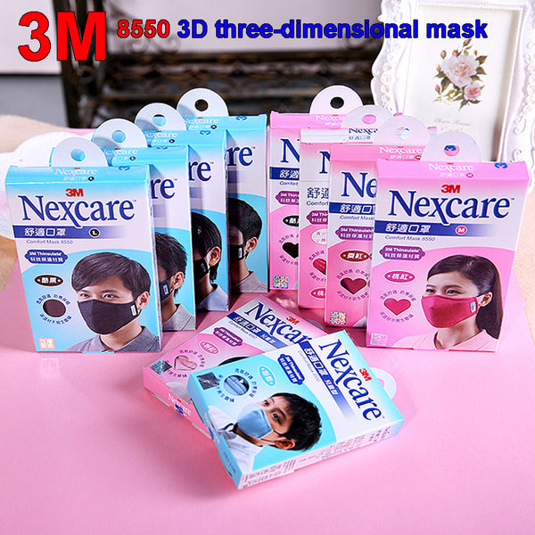 3M 8550 respirator mask fashion movement Riding Protective mask Windproof Cold Breathable PM2.5 dust mask