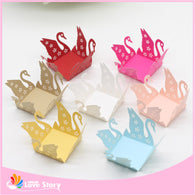 50pcs Swan Candy Box Bar Party Favors Chocolate Bar Cake Accessories Wedding Favors Chocolate Box Wedding Party Decoration