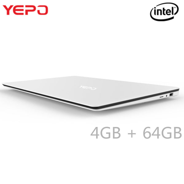 YEPO 15.6 Inch Laptop Z8350 Quad Core Laptop 4GB RAM 64GB Matte Screen Bluetooth 4.0 1.3MP Front Camera HD Notebook