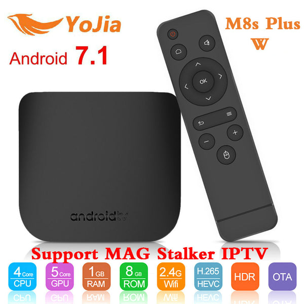 Mecool M8s Plus W TV Box Android 7.1 Amlogic S905W QuadCore 1G8G 2G/16G Support MAG 250 Stalker IPTV PK x96 mini smart TV Box