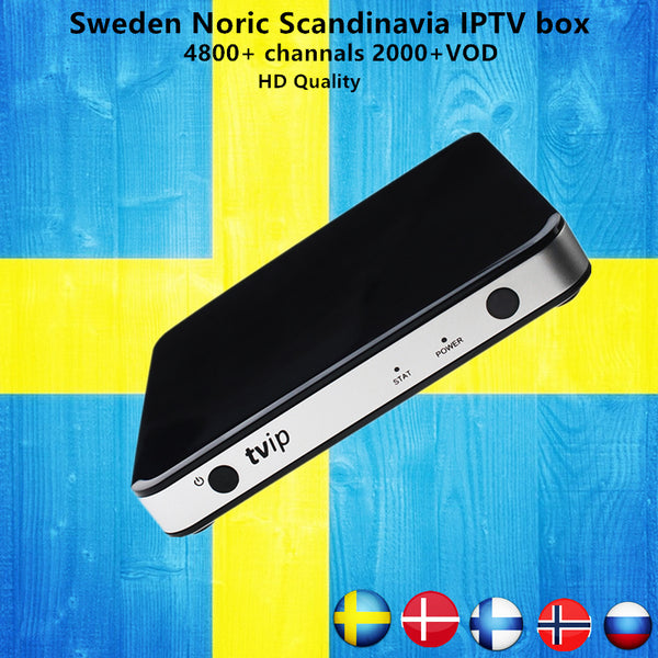 Sweden IPTV TVIP 605 Android/Linux Smart TV Box+5000 channels Mag IPTV Nordic Norway Europe Israel USA UK portgual KO MAG25X