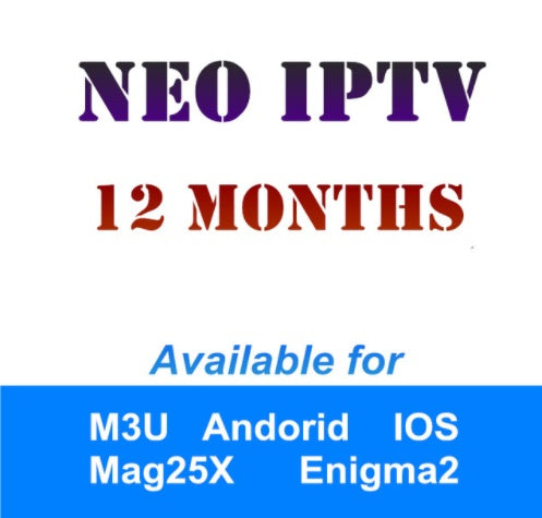 Neotv Iptv French Arabic UK US German subscription Live TV VOD Movies channels Europe Iptv Neotv pro one year Smart TV mag box
