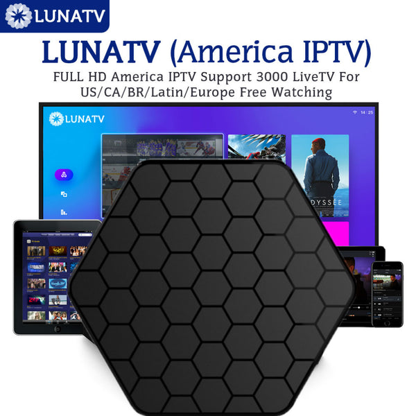 T95Zplus with 1 Year 3/6/12 Month LUNATV US Canada brazil Latin IPTV Smart Android 6.0 TV Box 2G16G S912 Media Player Set top bo