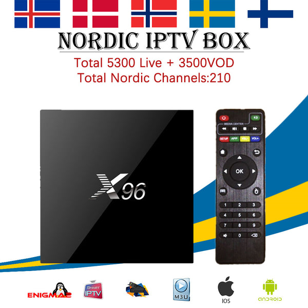 Nordic Scandinavia IPTV X96 Android 6.0 1G/8G 2G/16G TV Box Europe Arabic French Italian Canada IPTV 4700+Channels Smart tv Box