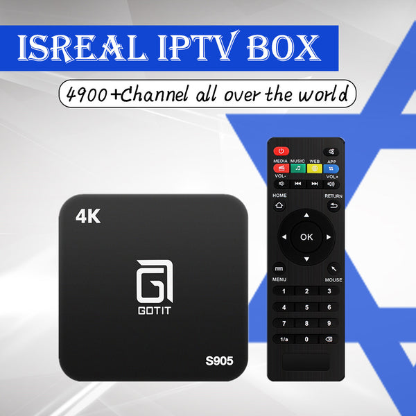 Best Gotit S905 Android TV Box Arabic Europe Israel Portugal France Canada with 1 Year 4700 Pro IPTV Live& VOD smart set top box