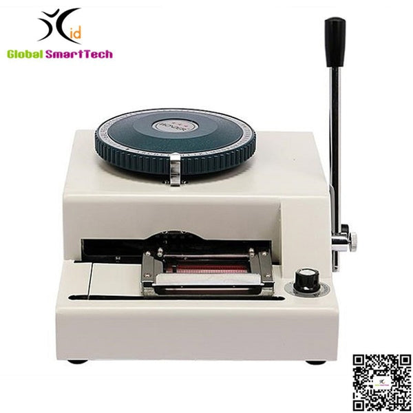 Manual PVC name id card embossing machine printer JX-68C