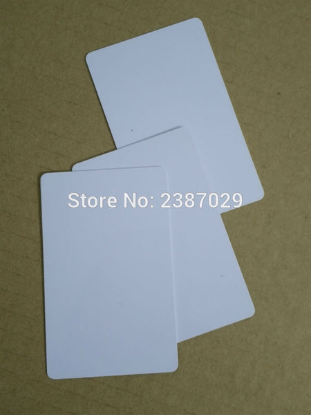 CR80 Size 125KHZ RFID Inkjet PVC Blank Chip Card with ID Chip for Printer