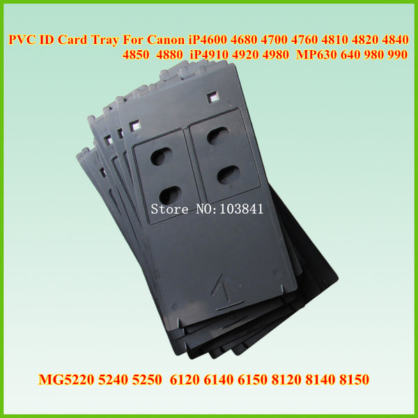 New compatible PVC ID Card tray For Canon IP4600 IP 4700 4760 4820 4850 4880 4910 4980 MP630 640 MG 5250 6120 8150 printer