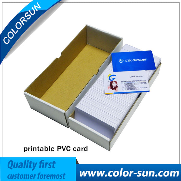 50 pcs 86*54mm High Quality Printable PVC Card ID Blank White Card for inkjet printer Sealed Waterproof Card