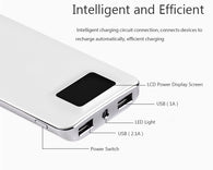 2018 20000mah Power Bank Mobile Phone Chargers External Battery Quick Charge Dual USB LCD Portable Mobile Phone Charger Sale