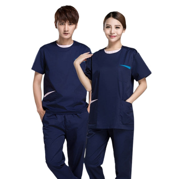 Nurse uniform Summer Medical Uniforms Surgical Uniform Dental Clinic Medical Scrub Clothes Sets for Man and Woman Work Wear