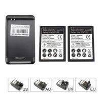 2x 3500mah Note2 Cell Phone Replacement Battery +USB Wall Charger for Samsung Galaxy Note 2 II GT-N7100 N7100 High Capacity