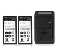 2x 3500mAh Rechargeable Battery For Samsung Galaxy S5 i9600 Replacement Batteries + USB Wall Charger Mobile Phone Backup Bateria