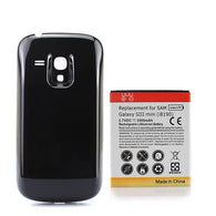 For Samsung Galaxy SIII S3 Mini i8190 Extended Backup 3500mAh Battery Replacement Li-ion Batteria+ Black Back Cover