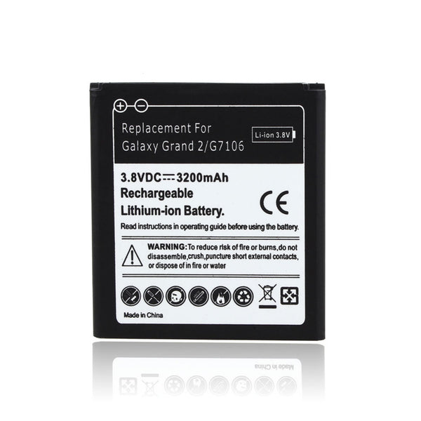 3200mAh Mobile Phone Replacement Li-ion Battery For Samsung Galaxy Grand 2 G7106 Phone Rechargeable Backup Batteria Bateria