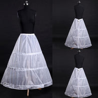 White 3 Hoop Crinoline Underskirt for Ball Gown Vintage Long Skirts Petticoats Slips for Wedding Dress