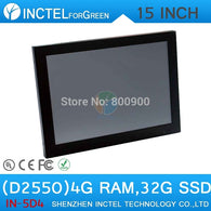 Windows XP 7 all in one touchscreen POS with LED 2mm panel HDMI 2*RS232 15