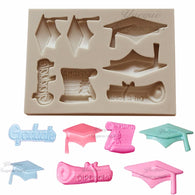 Yueyue Sugarcraft Graduation silicone mold fondant lace mold cake decorating tools chocolate gumpaste mold
