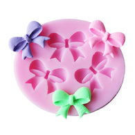 Silicone Form 1PC 3D Bowknots Flower Silicone Cake Mold Kitchen Cake Decorating Tools Chocolate Soap Stencils DIY Pastry Tools
