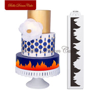 Flame Cake Stencil Fire Lace Cake Side Stencil Fondant Cake Border Decoration Template Wedding Cake Decorating Tool Bakeware