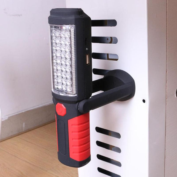 Portable COB LED Magnetic Folding Working Inspection light with Hanging Hook Power Bank for Outdoors Camping Flashlight Torch