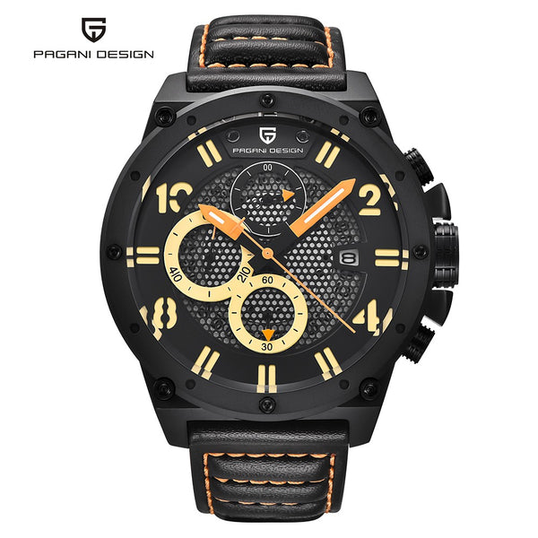 PAGANI DESIGN Men's Watch, Classic Men Sport Wristwatch Layered Dial Business Wrist Watch, Watch for Men