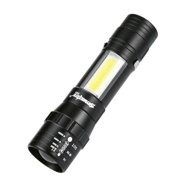 Skywolfeye Portable 4 Modes COB LED USB Charging Zoom Focus Torch Light