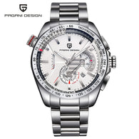 PAGANI DESIGN Men's Watch, Luxury Brand Wristwatch, Waterproof 3ATM Chronograph Auto Date-Day Watch for Women Men