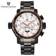 PAGANI DESIGN Men's Watch, Luxury Stainless Steel Band Waterproof Watch for Men Women, Chronograph Wristwatch