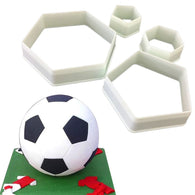Soccer Ball Sugarcraft Footbal Plastic Fondant Cutter Cake Mold Fondant Mold Fondant Cake Decorating Tools Sugarcraft Bakeware