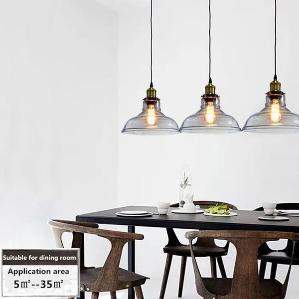E26 E27 Pendant Lights Vintage Glass Lamp Luminaire Lampshade Hanglamp Light For Bar Restaurant Pendant Lamp Lustres Fixture