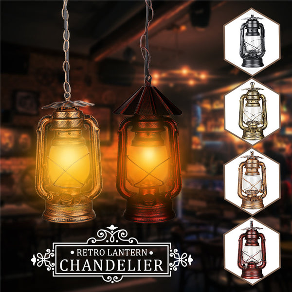 Best Metal Vintage Pendant Light AC110-240V E27 Loft for Creative Personality Industrial Pendant Lamp for Restaurant Coffee Bar