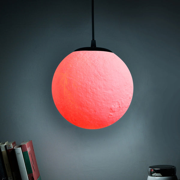 7 Colors Nordic Simple Restaurant Lamp Creative Retro Personality Bedroom Art Ball Moon Lanyard Pendant Lights