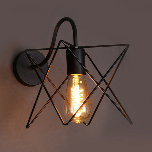 Creative Modern Style Wall Lamp Iron Art Star Wall Light Decorative Light Nordic Restaurant Cafe Aisle LED Wall Lamp Wholesale