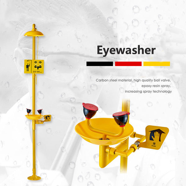 304 SS +ABS Coating Combination Shower Station and Eye Wash Eyewash Station