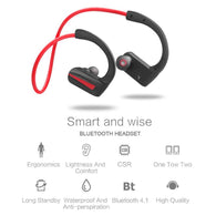 P10 Sports Bluetooth Ear Hook Earphone Neckband IPX5 Waterproof Headphone Memory Coil Wireless Earphone Stereo Earbuds Headset