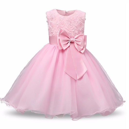 summer New high-grade flower Lace dress wedding party performance costume children brand clothing girl Christmas dresses