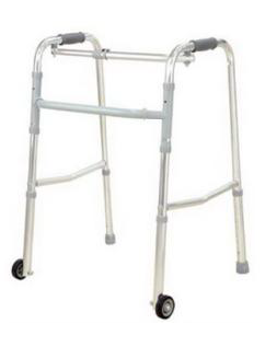 Folding Walker - One Touch Button with Wheel