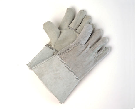 COW SPLIT PALM AND BACK, 4″ CUFF WELDERS GLOVES PAIR