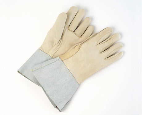 COW-GRAIN PALM AND BACK, 4″ CUFF, KEVLAR STITCHED WELDERS GLOVES PAIR