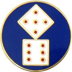 11th Corps Insignia Pin (7/8 inch)