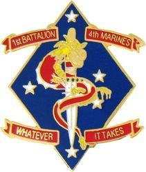 1st Battalion 4th Marine Division Pin (1 1/8 inch)